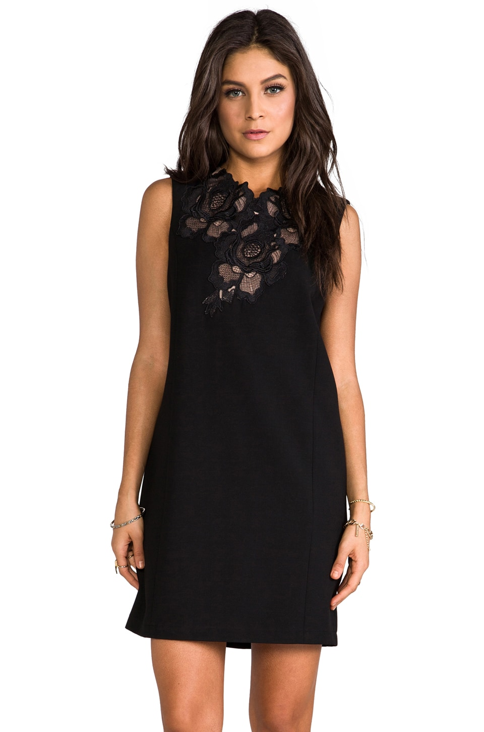 BCBGMAXAZRIA Valentine Lace Dress in Black
