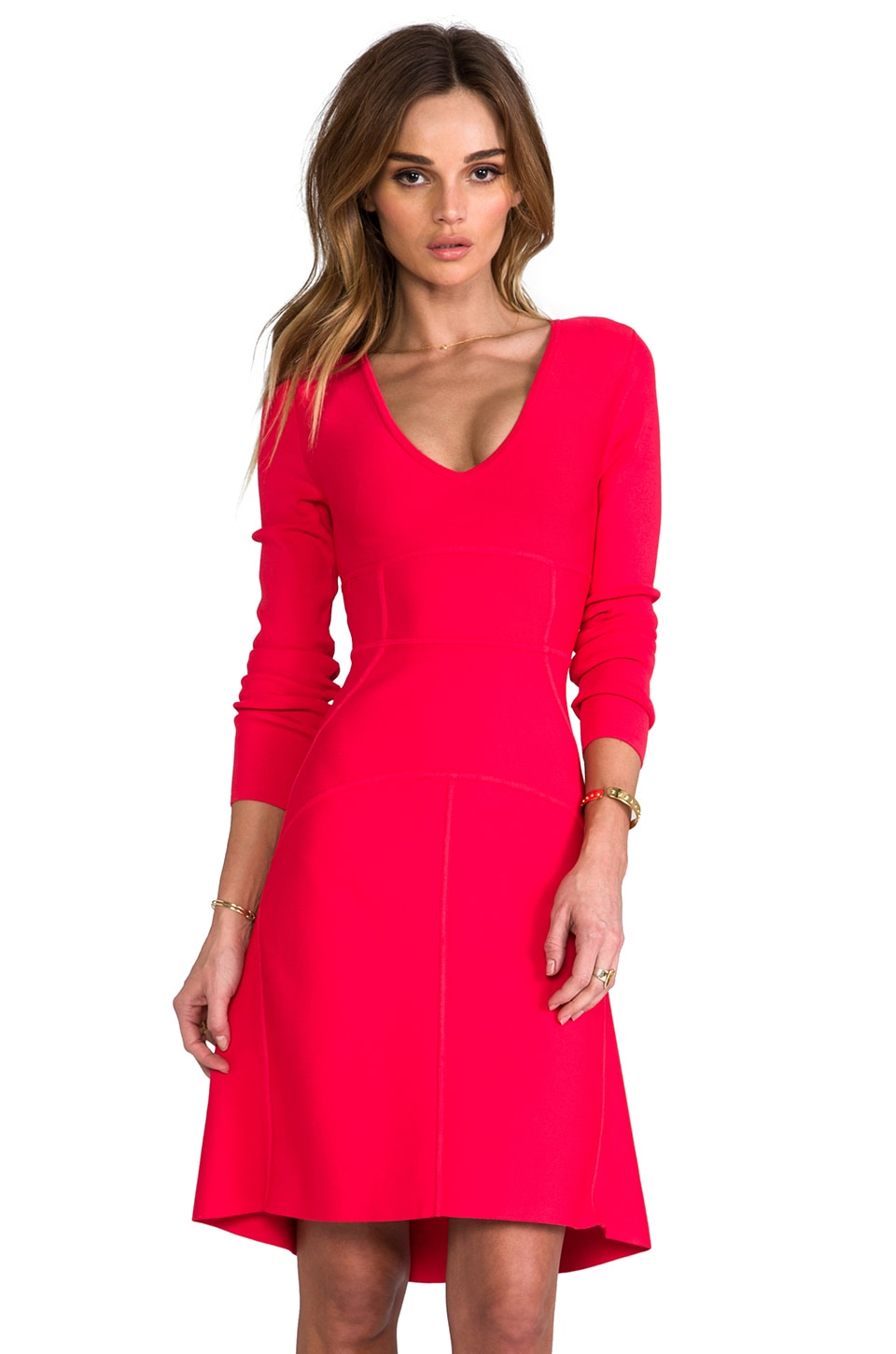 BCBGMAXAZRIA Sydney Dress in Red Berry