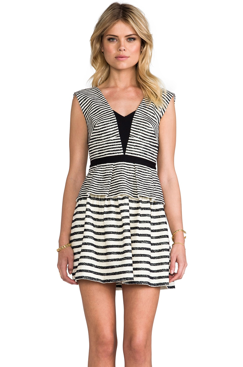 BCBGMAXAZRIA Piper Dress in Black White Combo