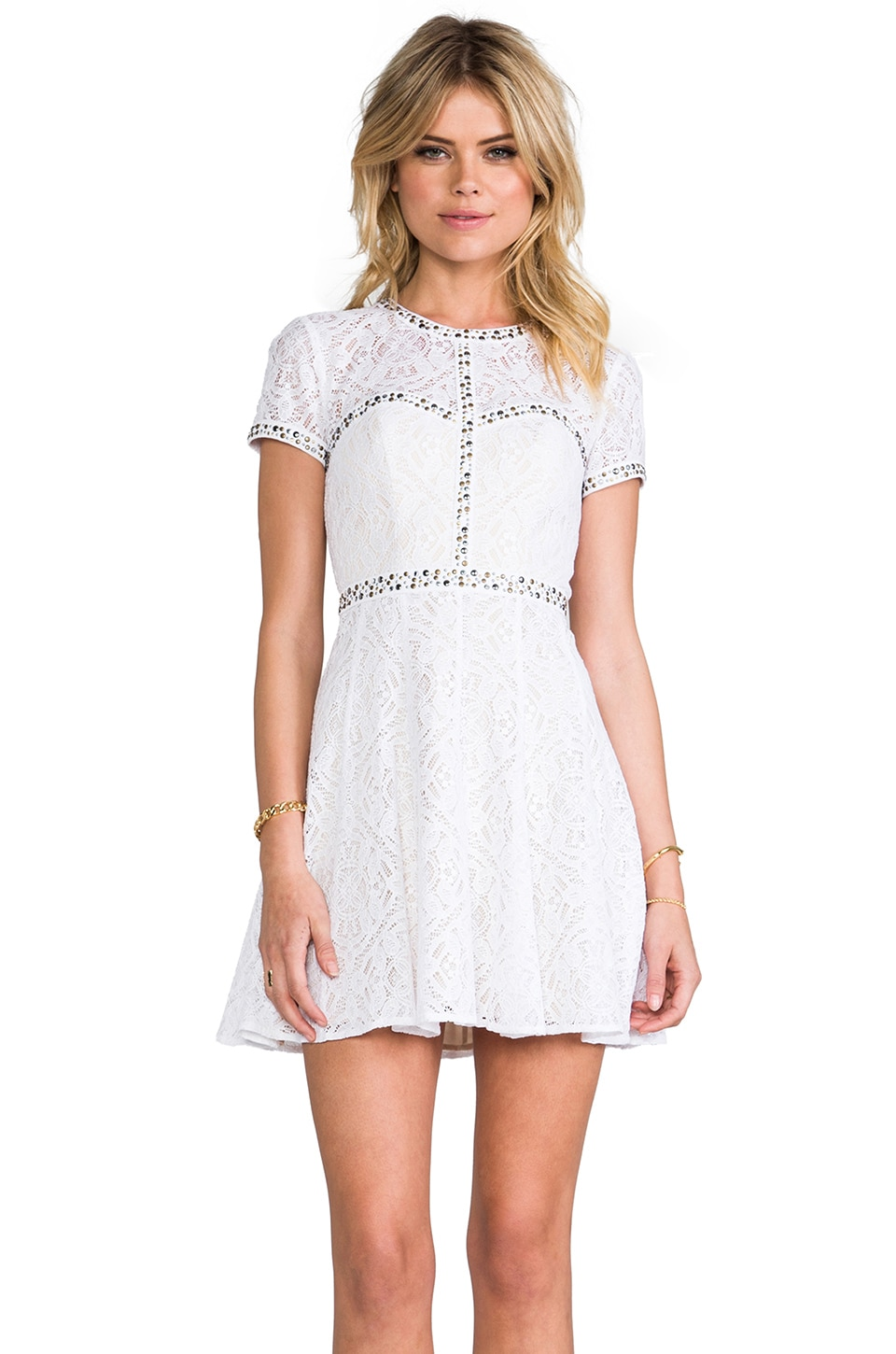 BCBGMAXAZRIA Gill Dress in White