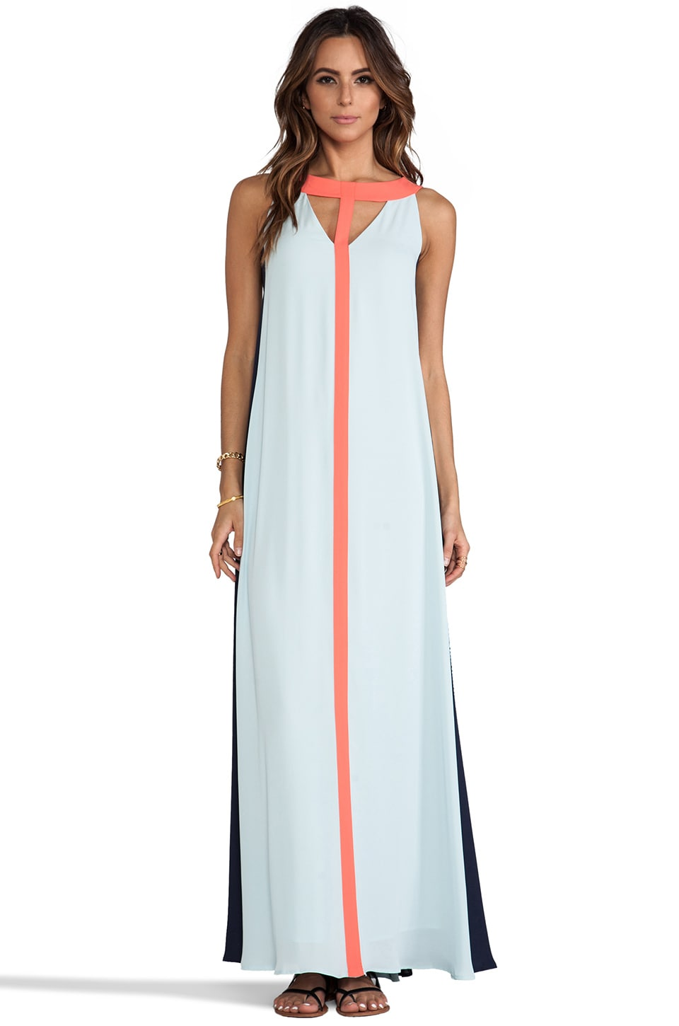 BCBGMAXAZRIA Wilah Dress in Sterling Blue Combo