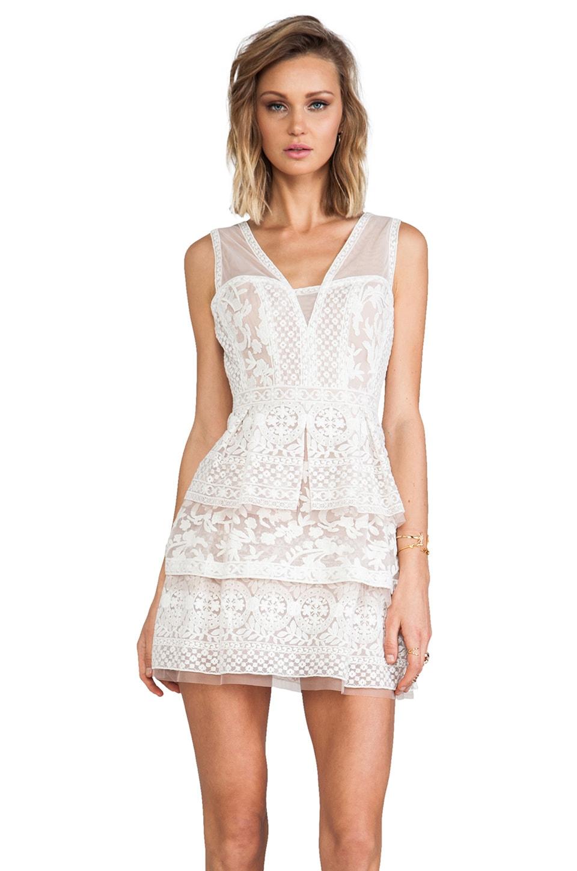BCBGMAXAZRIA Fola Dress in Cream