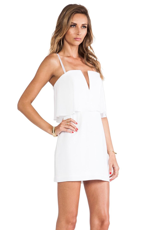 BCBGMAXAZRIA Kate Strapless Mini Dress in White  REVOLVE