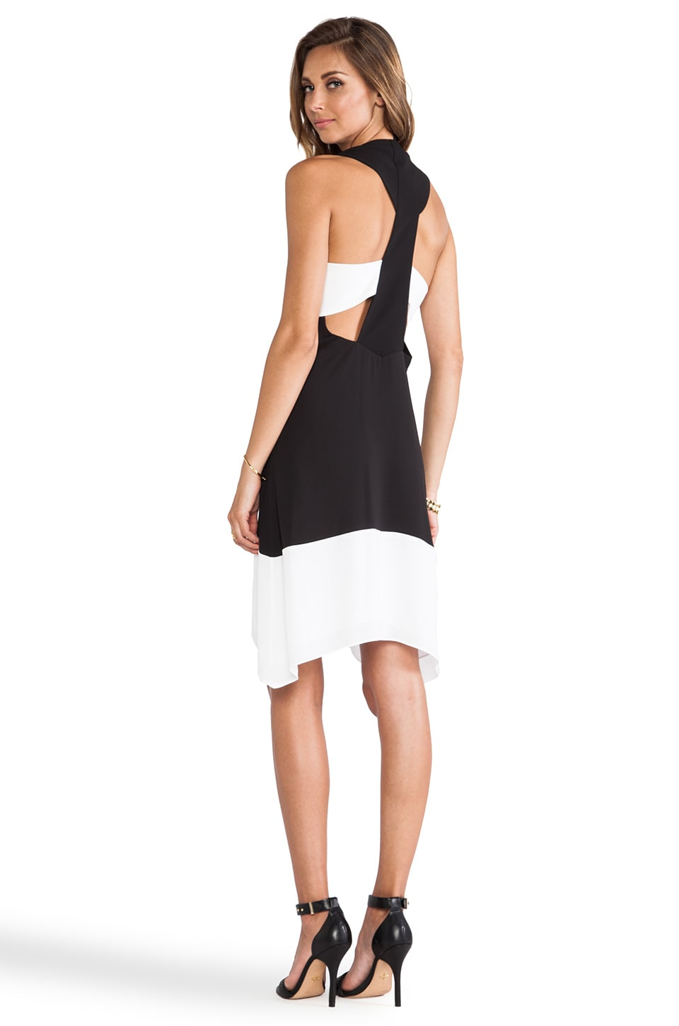 BCBGMAXAZRIA Kylie Color Block Dress in Black Combo