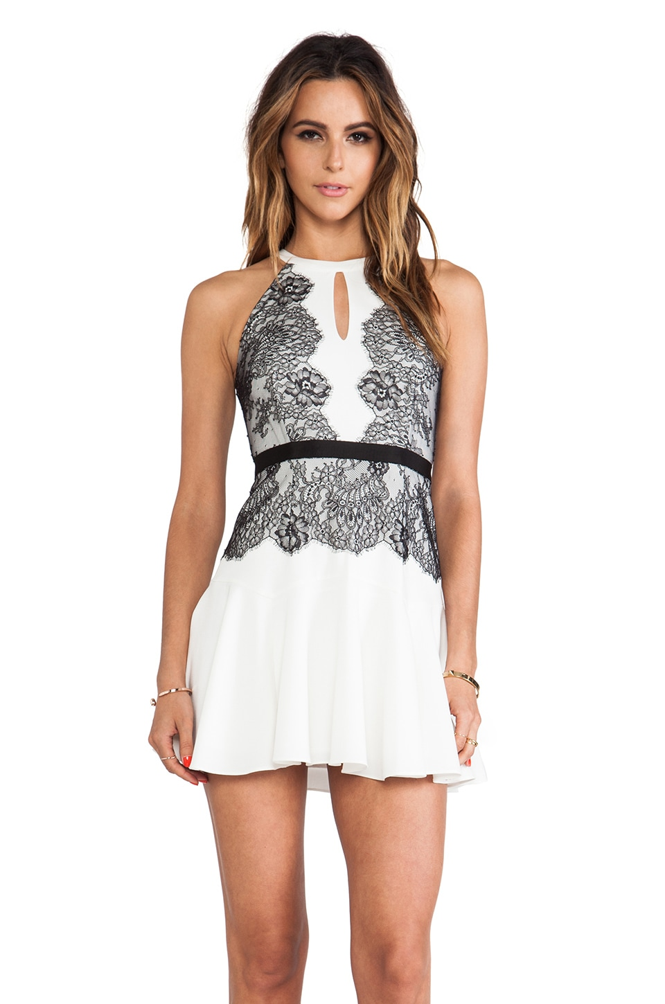 BCBGMAXAZRIA Leyla Dress in White