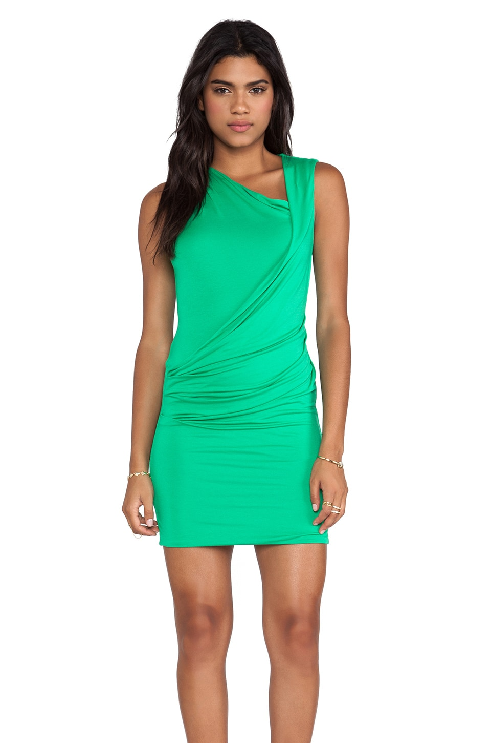 BCBGMAXAZRIA Ainsley Dress in Light Evergreen