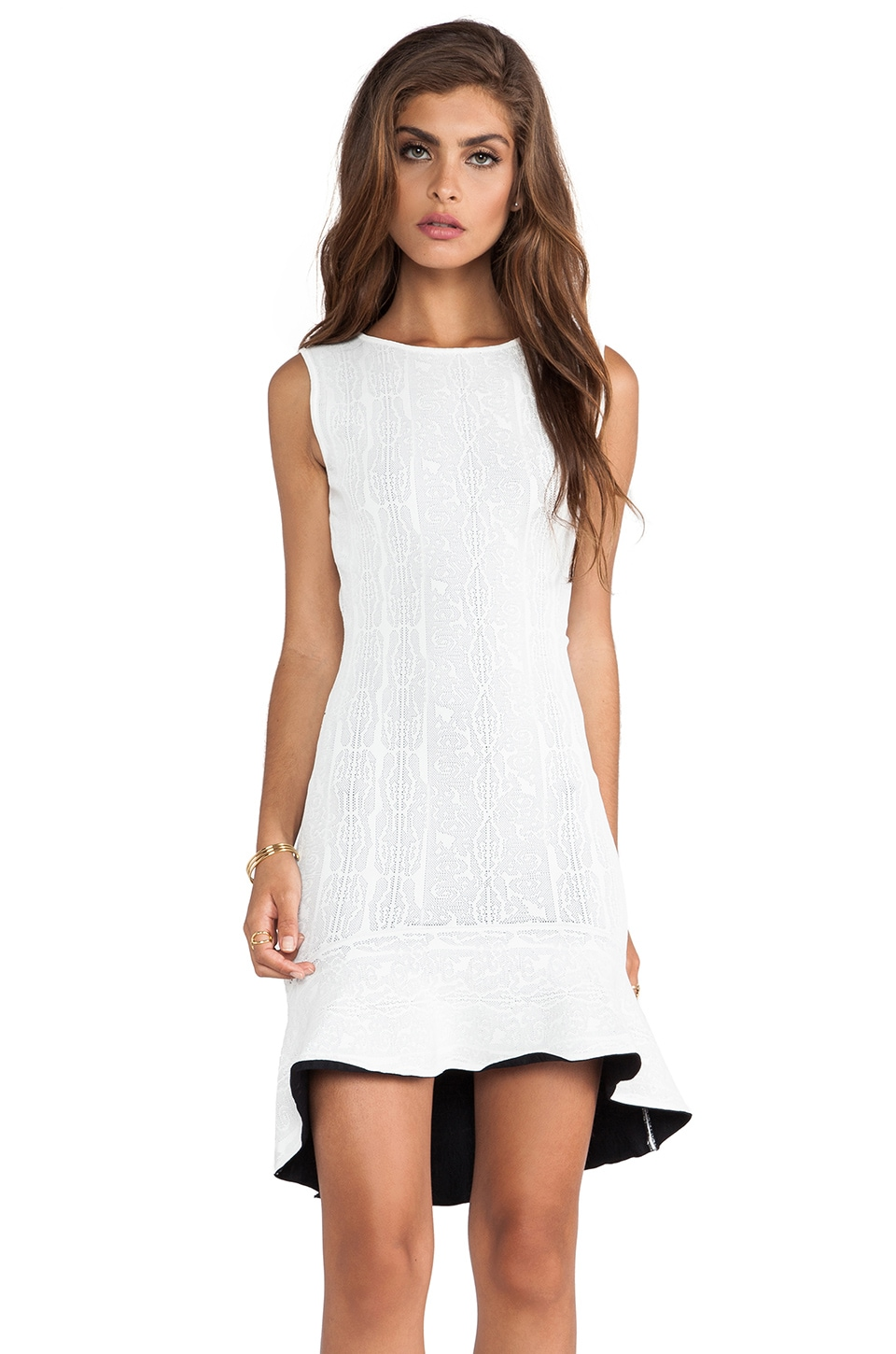 BCBGMAXAZRIA Estelle Dress in Gardenia Combo