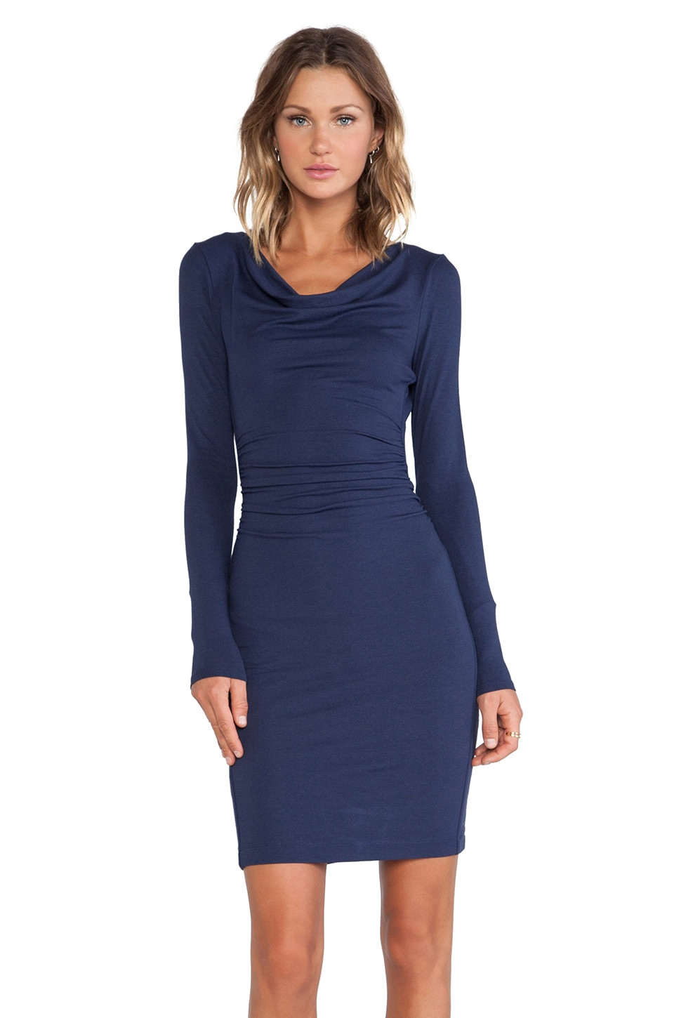 BCBGMAXAZRIA Anyika Long Sleeve Dress in Dark Navy
