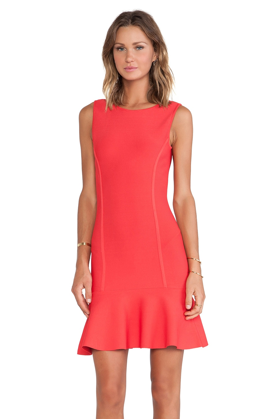 BCBGMAXAZRIA Padma U Back Dress in Red Berry