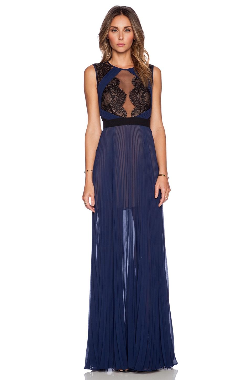 BCBGMAXAZRIA TBD Dress in Classic Blue Combo
