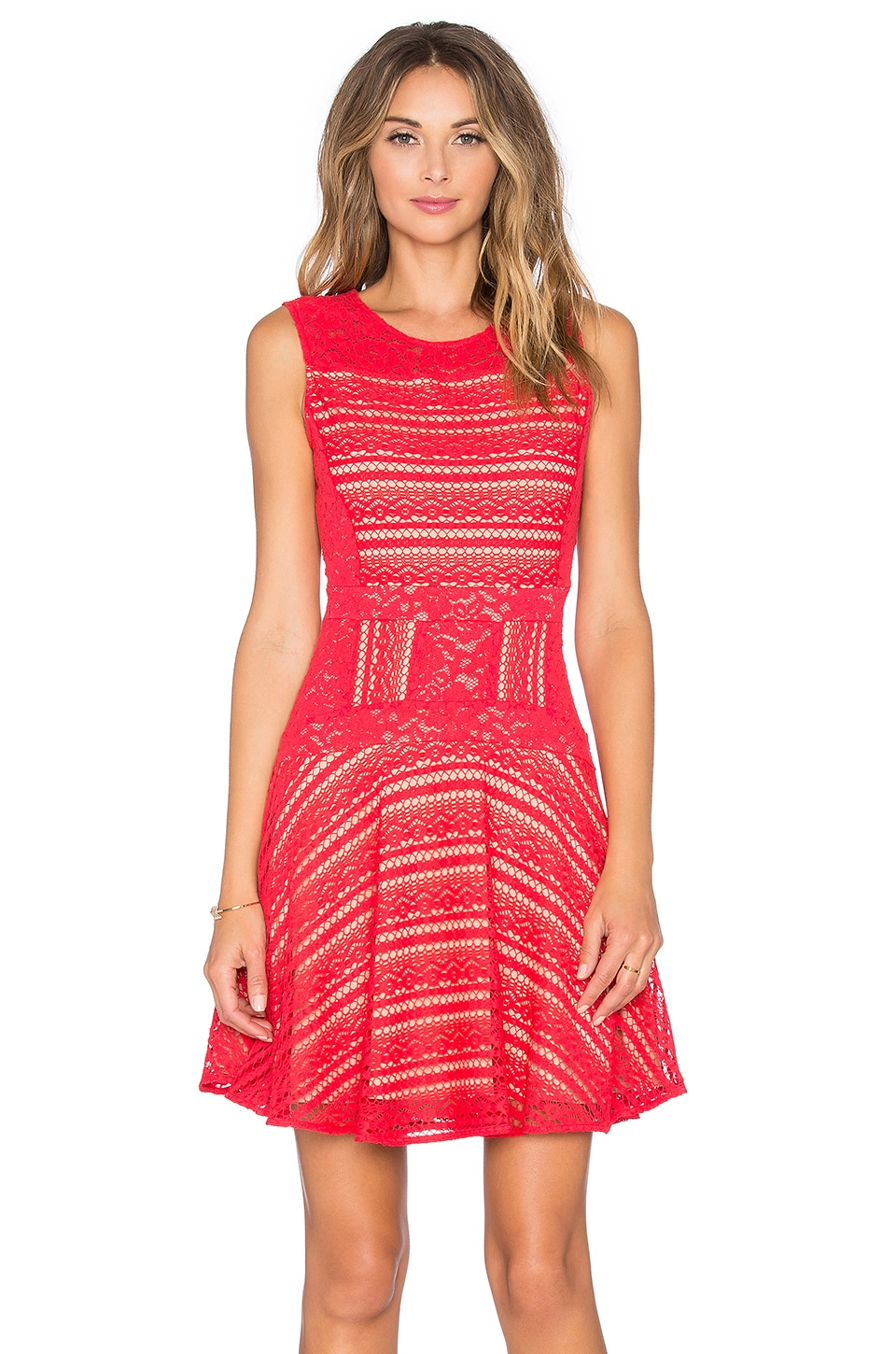 Bcbgmaxazria Jalina Dress In Red Berry
