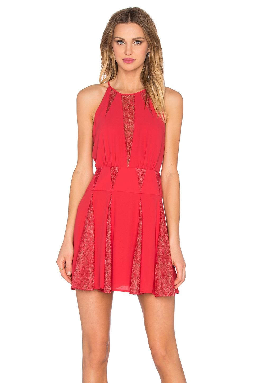 BCBGMAXAZRIA Teena Dress in Lipstick Red
