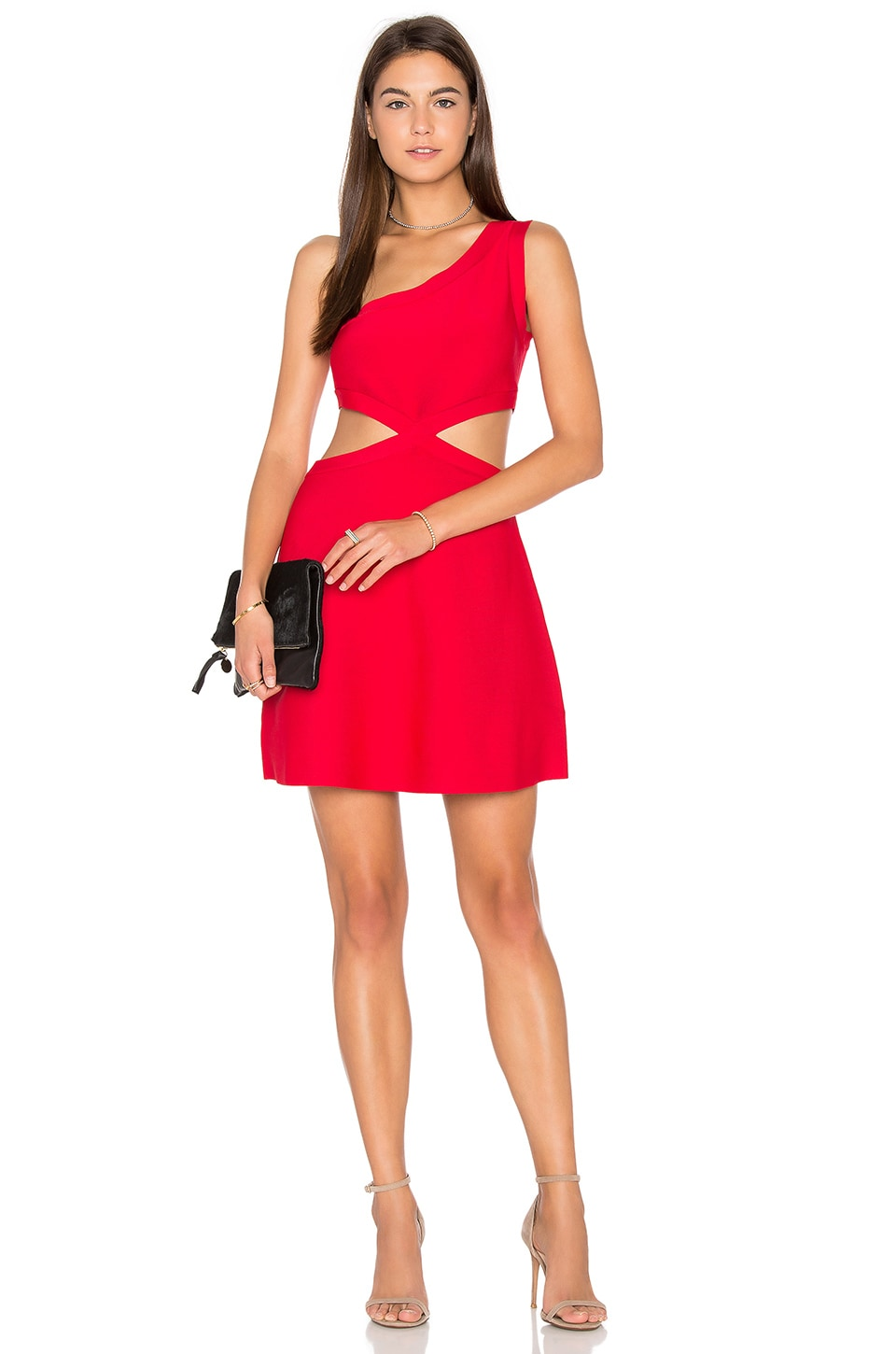BCBGMAXAZRIA Jacquelln Mini Dress in Red Berry