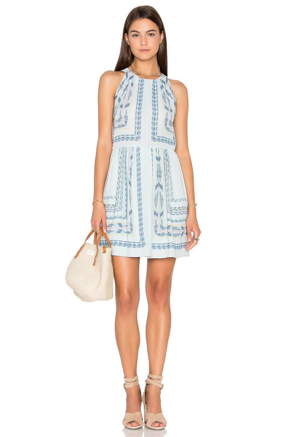 BCBGMAXAZRIA Cambria Mini Dress in Crystal Blue Combo