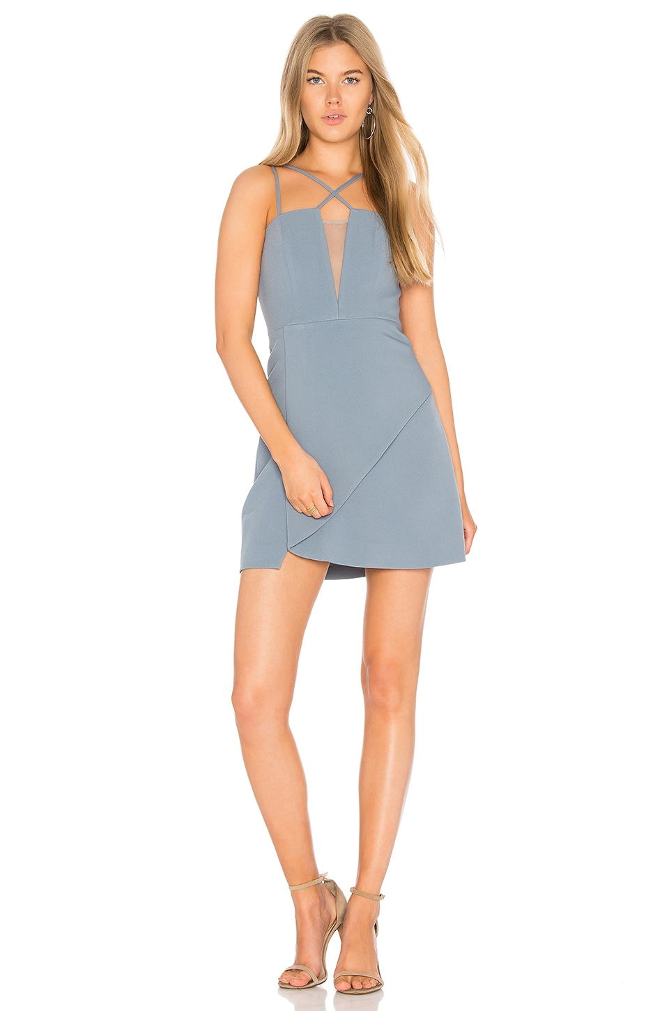 BCBGMAXAZRIA Linzee Dress in Light Blue Haze