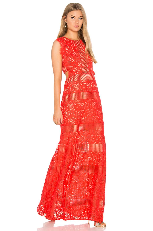 BCBGMAXAZRIA Merida Gown in Bright Poppy | REVOLVE