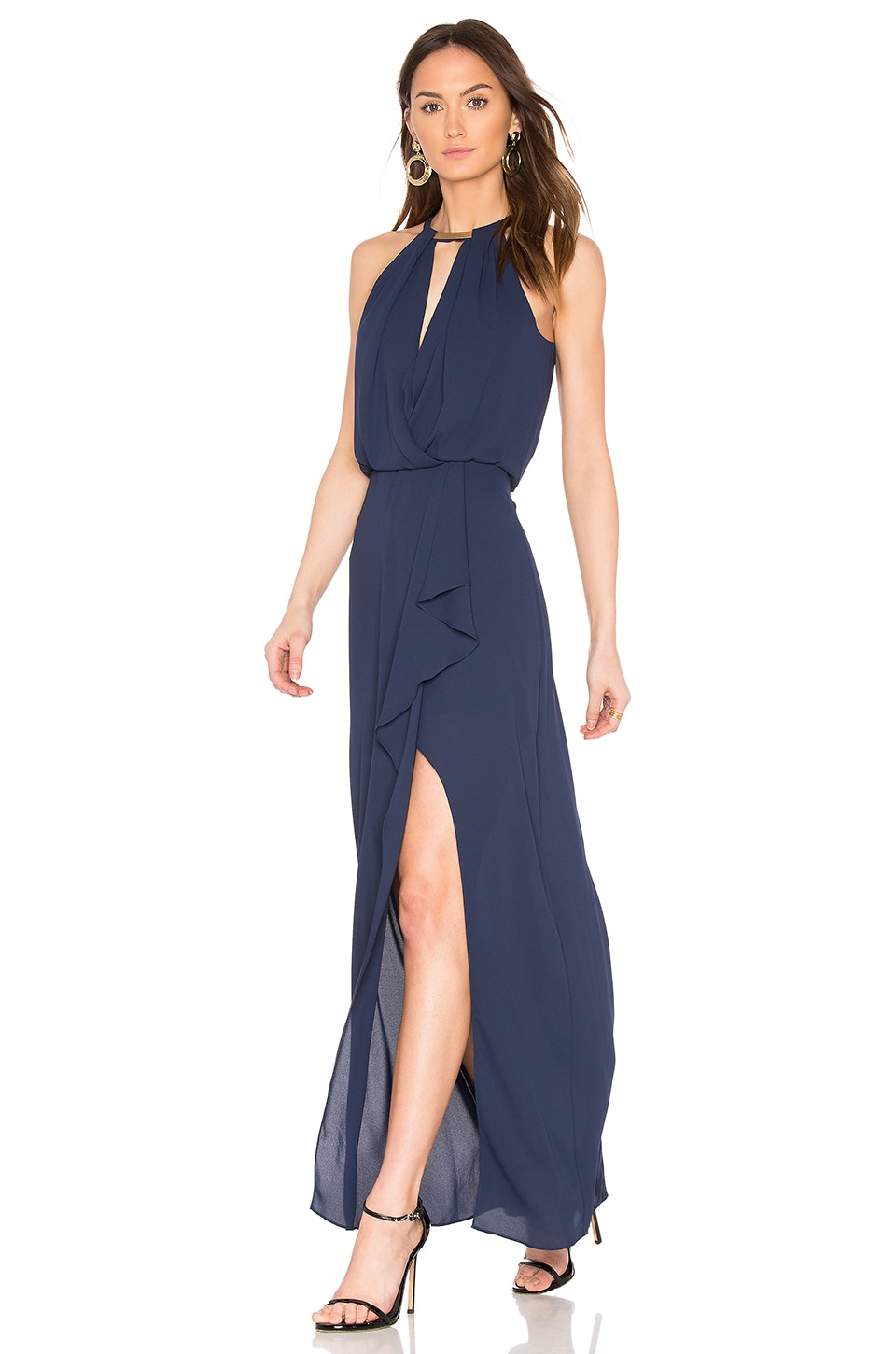 BCBGMAXAZRIA Amanda Gown in Navy