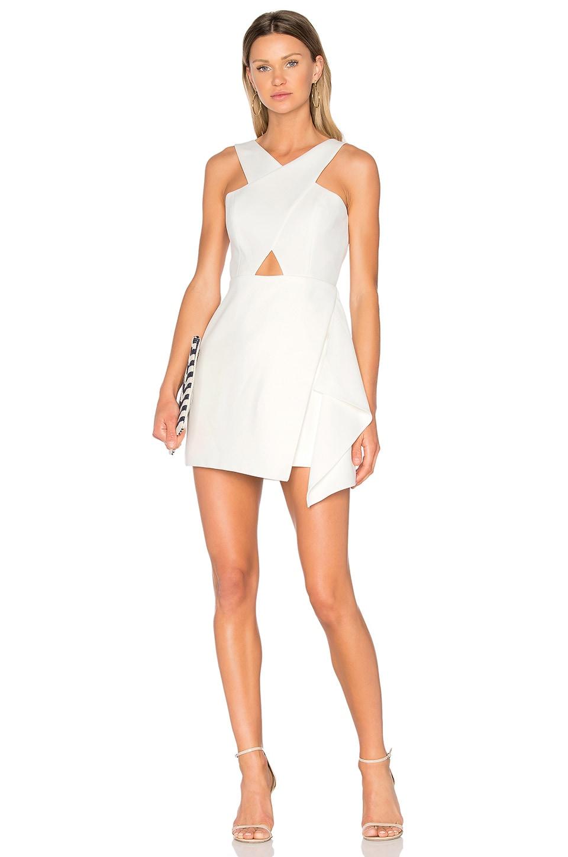 BCBGMAXAZRIA Qyun Dress in Off White | REVOLVE