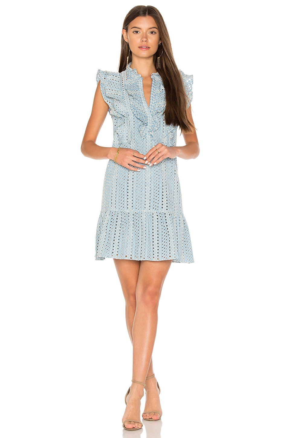 BCBGMAXAZRIA Flounce Dress in Chambray