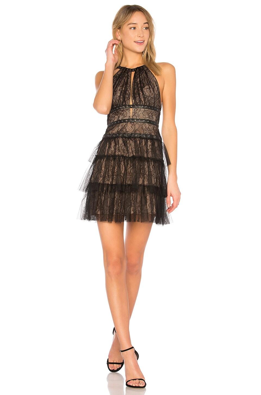 BCBGMAXAZRIA Hilaria Short Halter Dress With Gromme In Black in ...