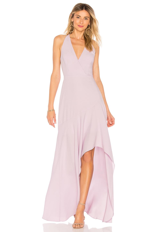 BCBGMAXAZRIA Obree Halter Dress In Lavender