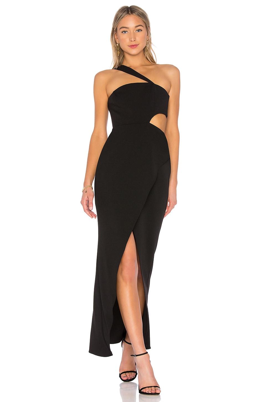 BCBGMAXAZRIA Acasia One Shoulder Dress in Black