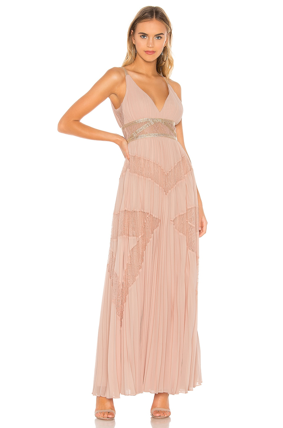 Bcbgmaxazria Tops BCBGMAXAZRIA EVE PLEATED GOWN IN PINK.