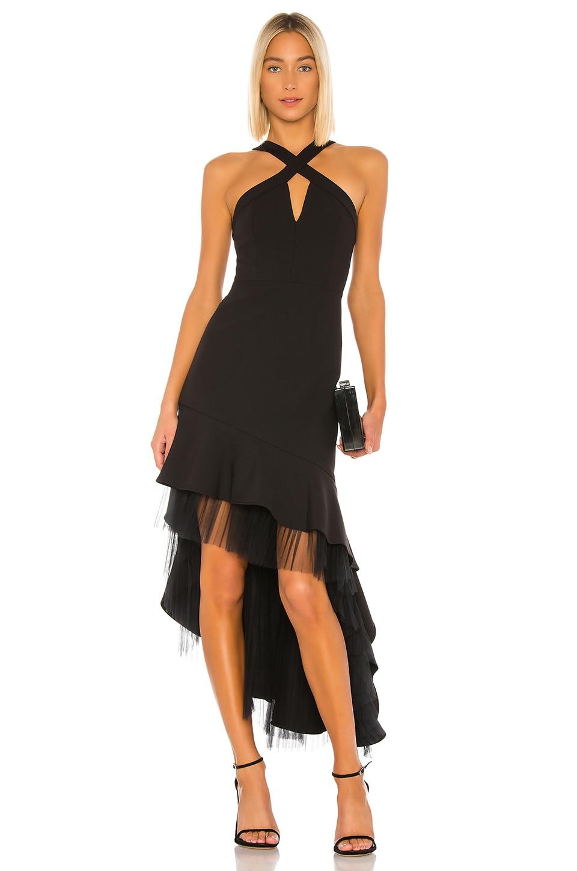 BCBGMAXAZRIA Hi Low Cocktail Dress in Black