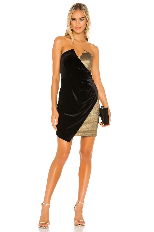 BCBGMAXAZRIA Cocktail Dress in Black Combo