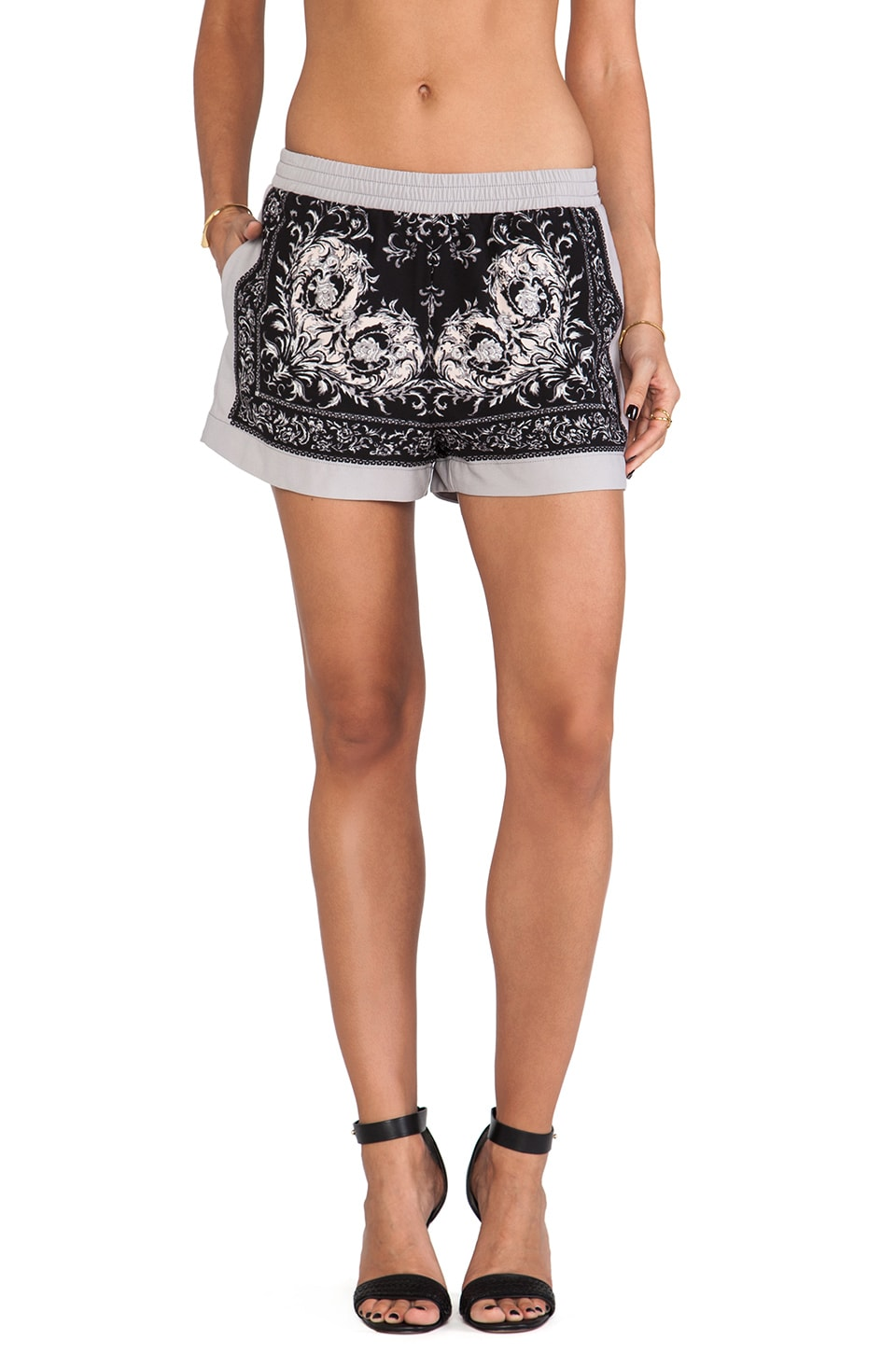 BCBGMAXAZRIA Issac Shorts in Black Combo