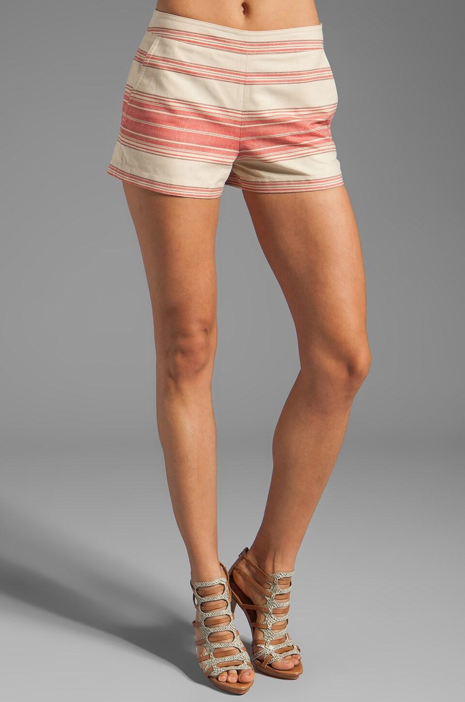BCBGMAXAZRIA Striped Shorts in Red Multi
