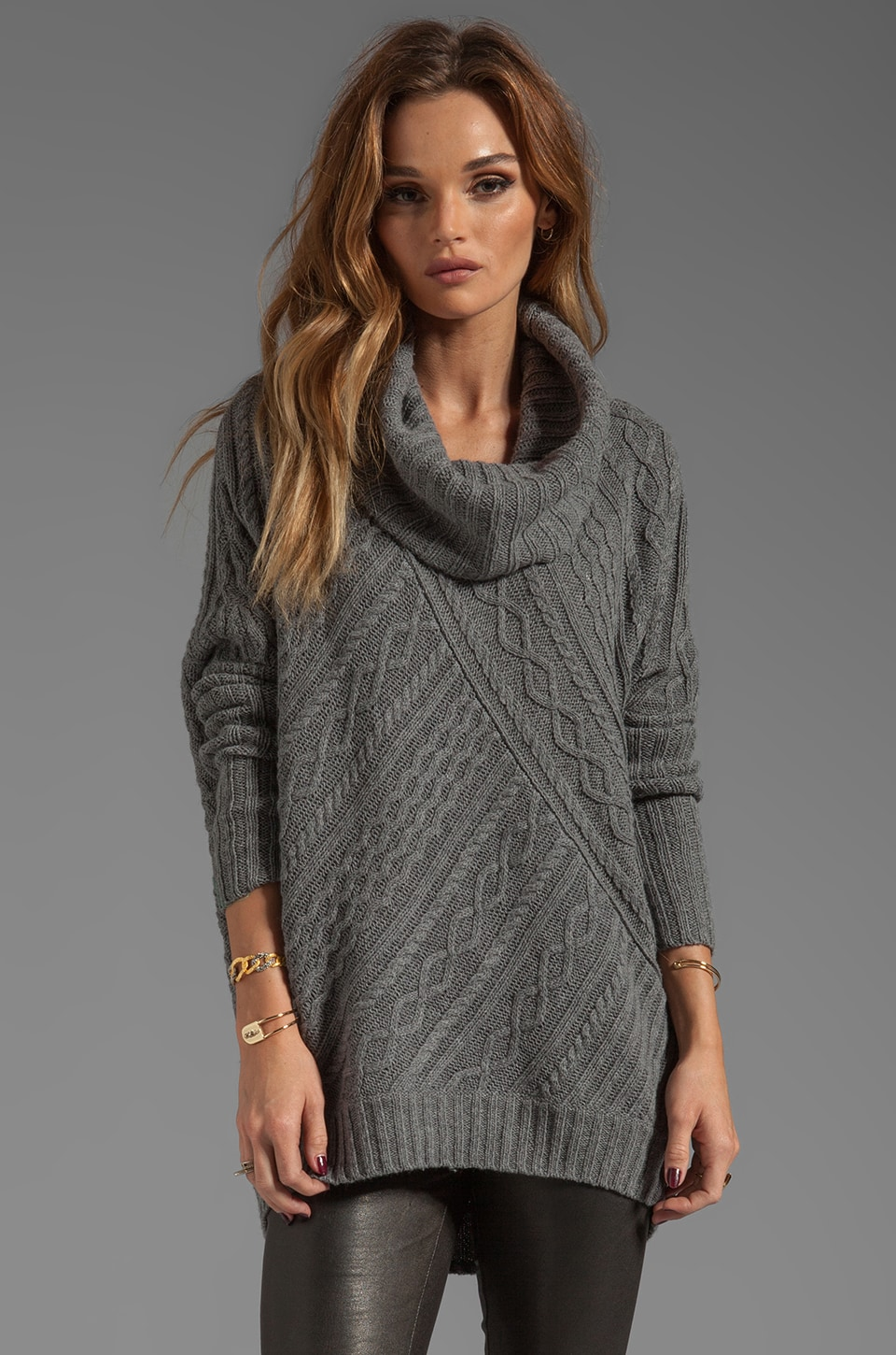 BCBGMAXAZRIA Linden Sweater in Heather Grey
