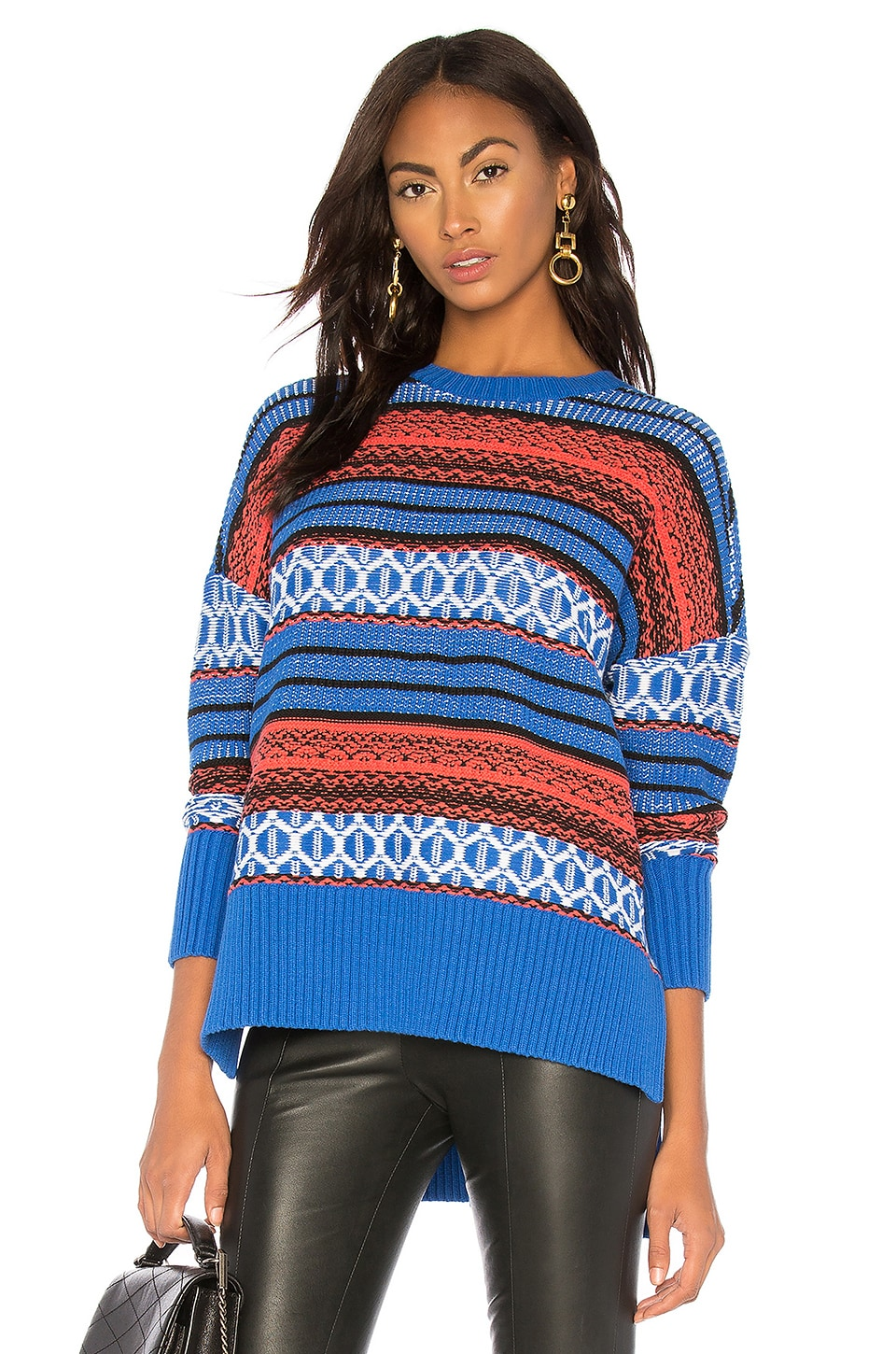 Textured Jacquard Pullover