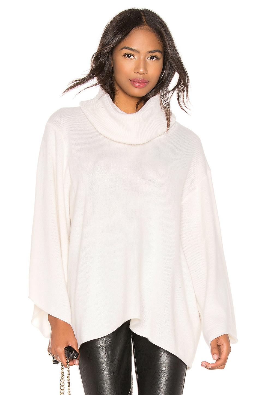 BCBGMAXAZRIA Cowl Neck Pullover Sweater in Gardenia