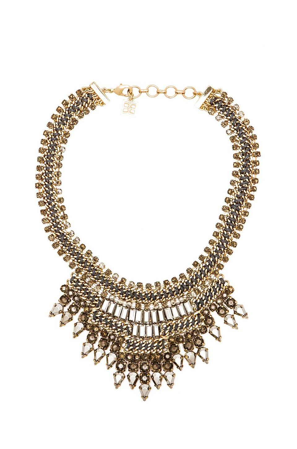BCBGMAXAZRIA Baguette Stone Statement Necklace in Glacier Combo