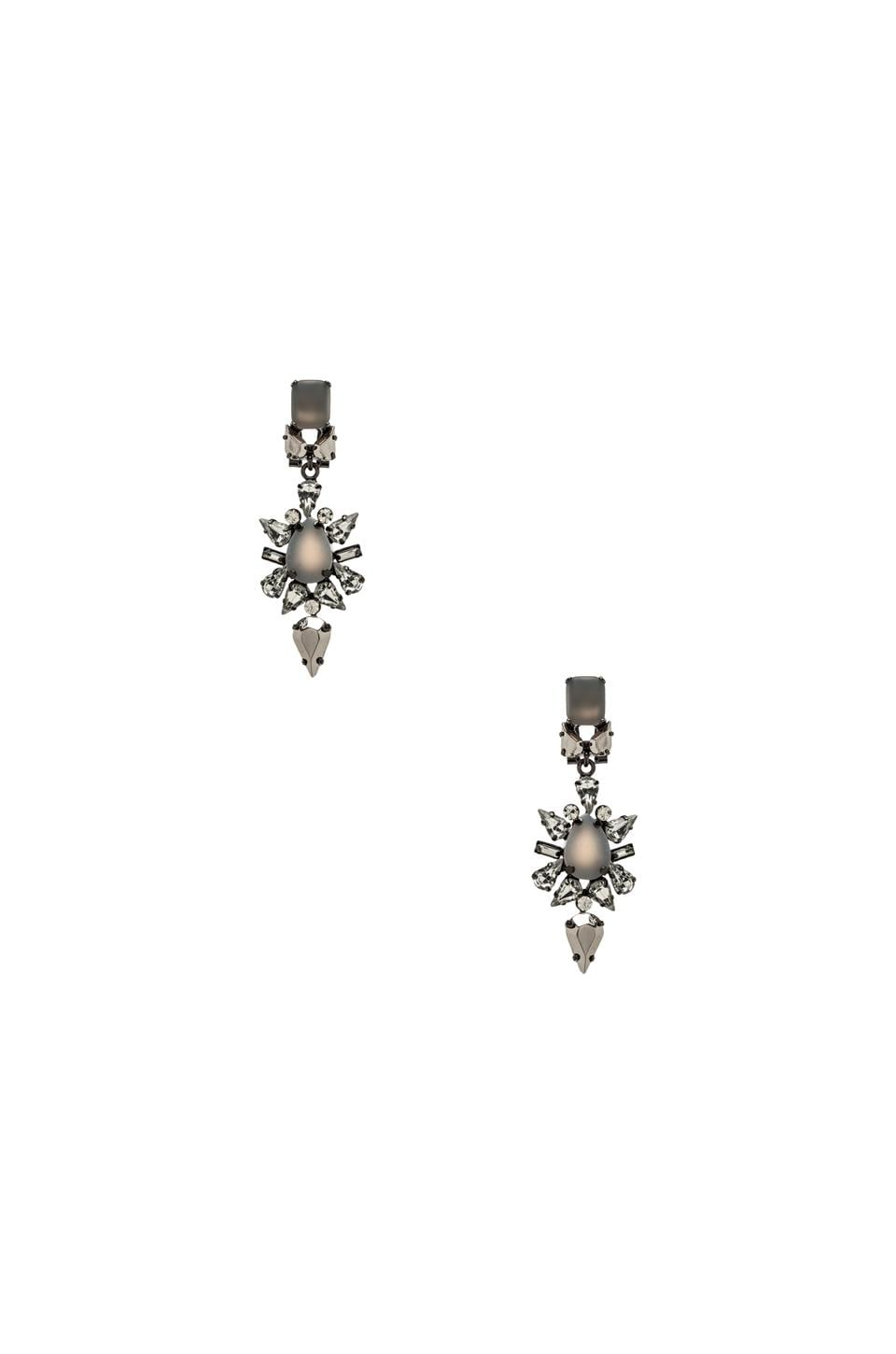 BCBGMAXAZRIA Jeweled Spike Earring in Grey Agate Combo