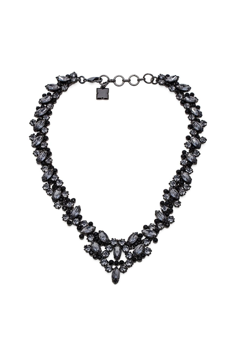 BCBGMAXAZRIA Scattered Stone Necklace in Black Diamond Combo