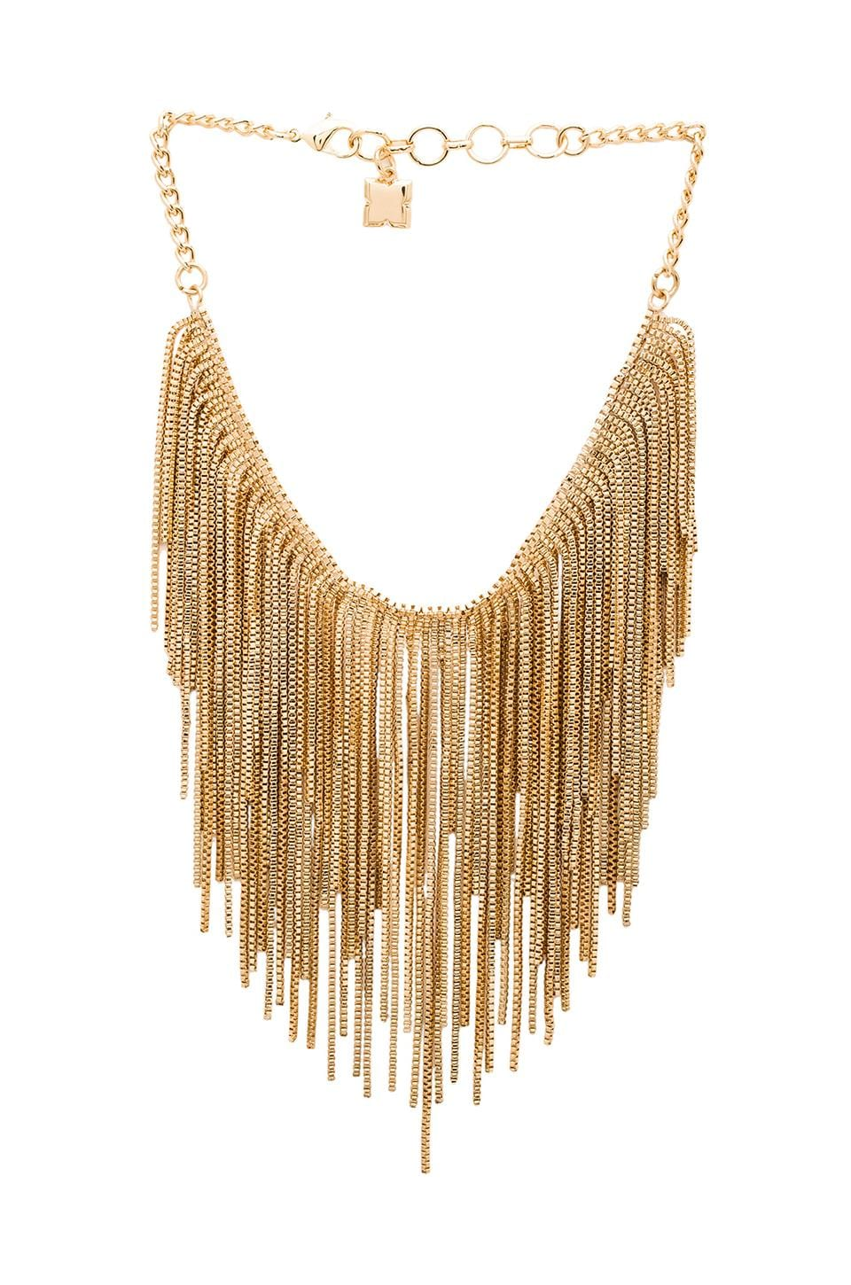 BCBGMAXAZRIA Box Metal Necklace in Gold