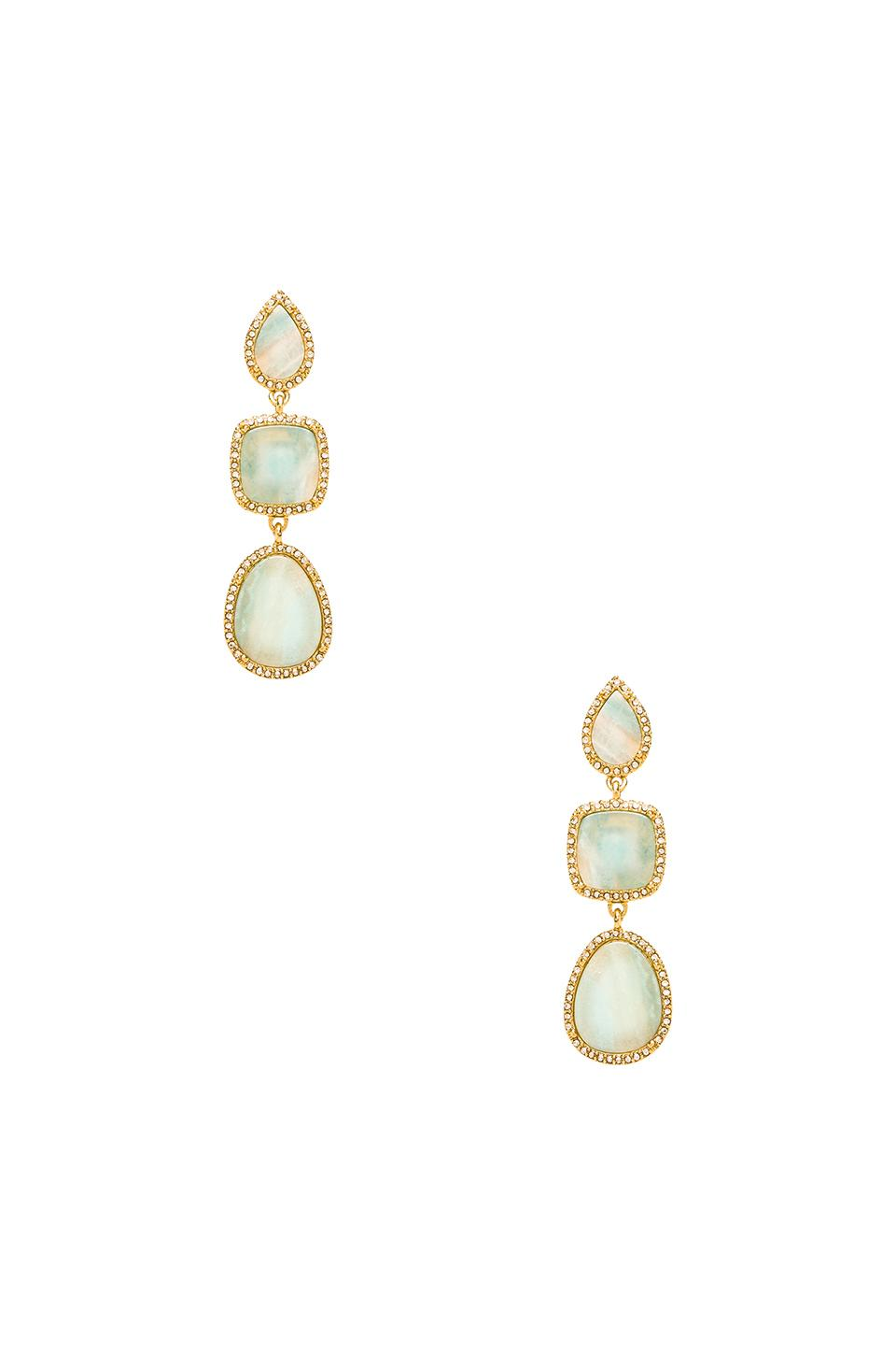 BCBGMAXAZRIA Multi Stone Earrings in Amazonite