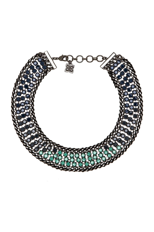 BCBGMAXAZRIA Ombre Stone Statement Necklace in Blue