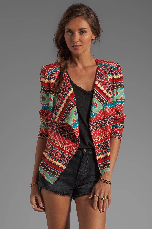 BCBGMAXAZRIA Printed Jacket in Saffron Combo