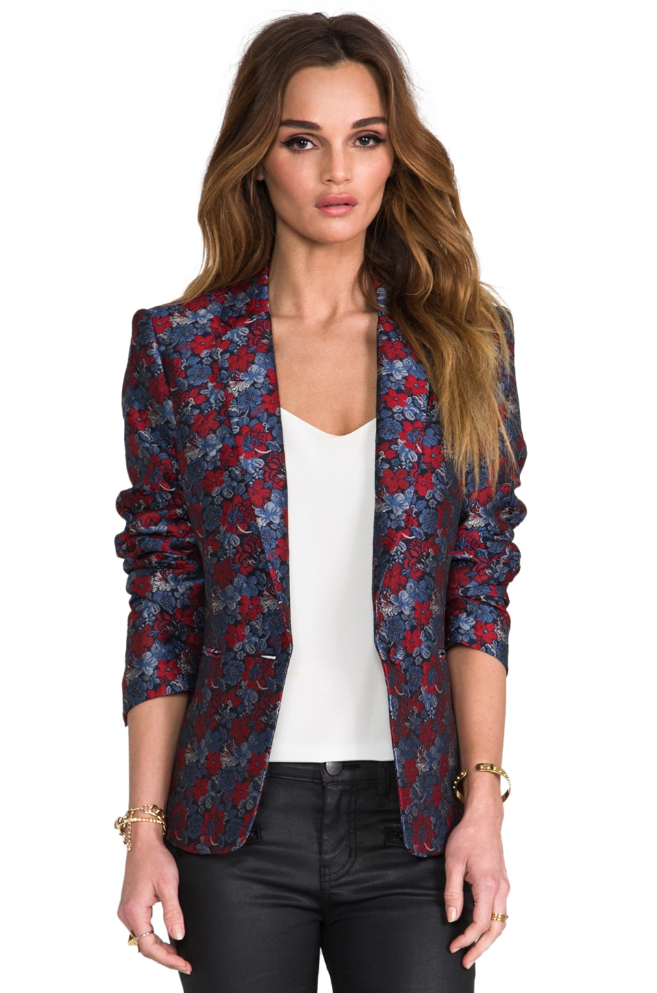 BCBGMAXAZRIA Kamryn Blazer in Dark Navy Multi