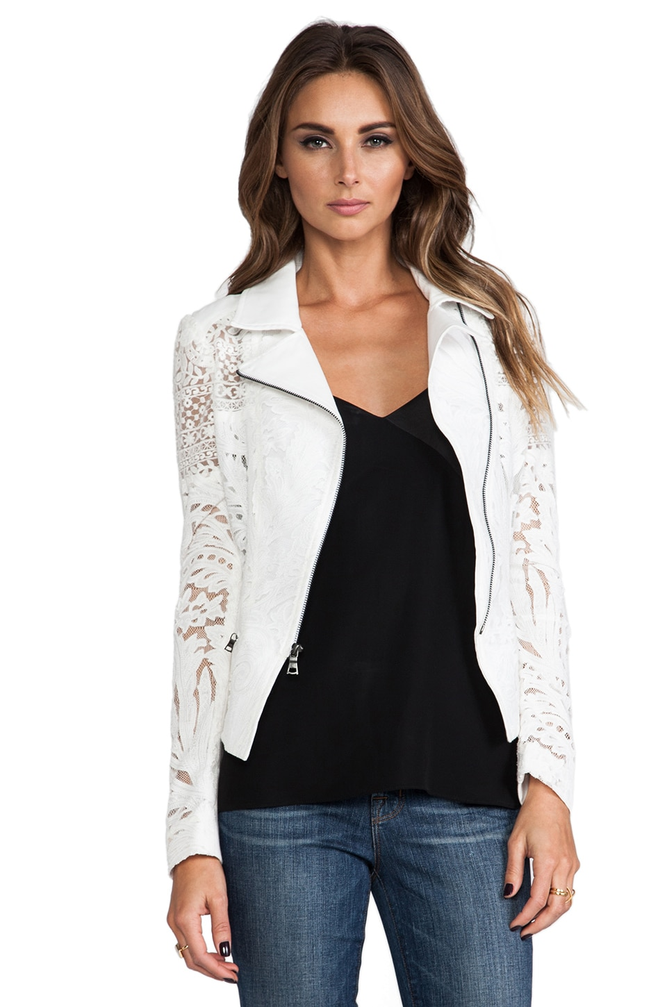 BCBGMAXAZRIA Boe Jacket in Off White