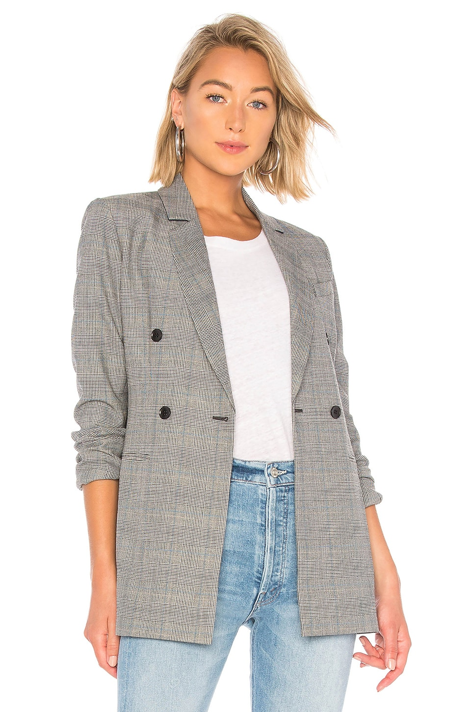 Houndstooth Plaid Blazer