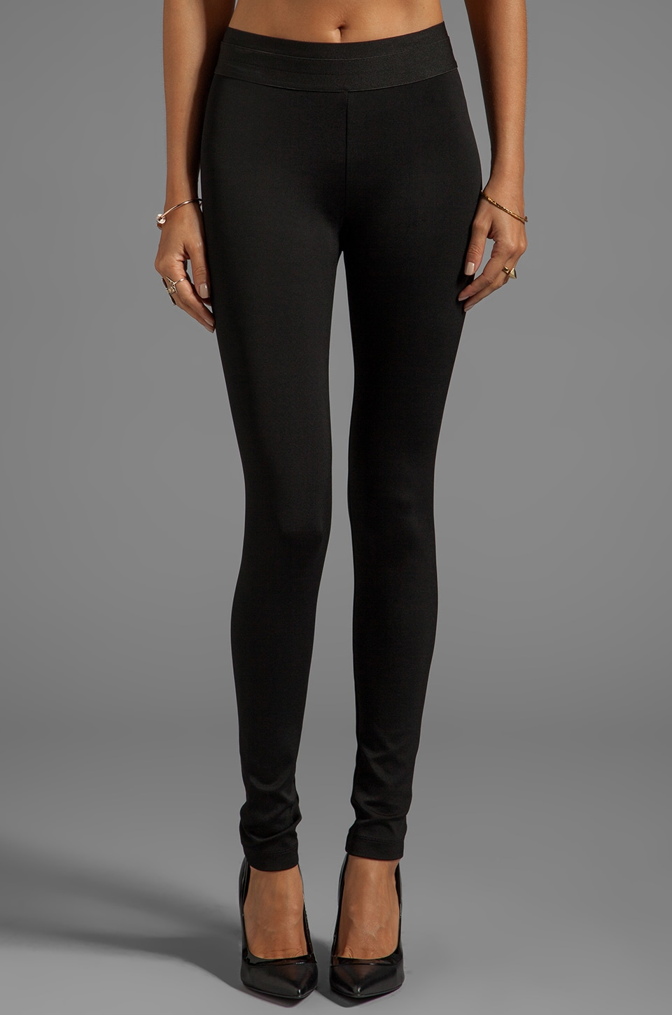 BCBGMAXAZRIA Mason Basic Ponte Legging in Black