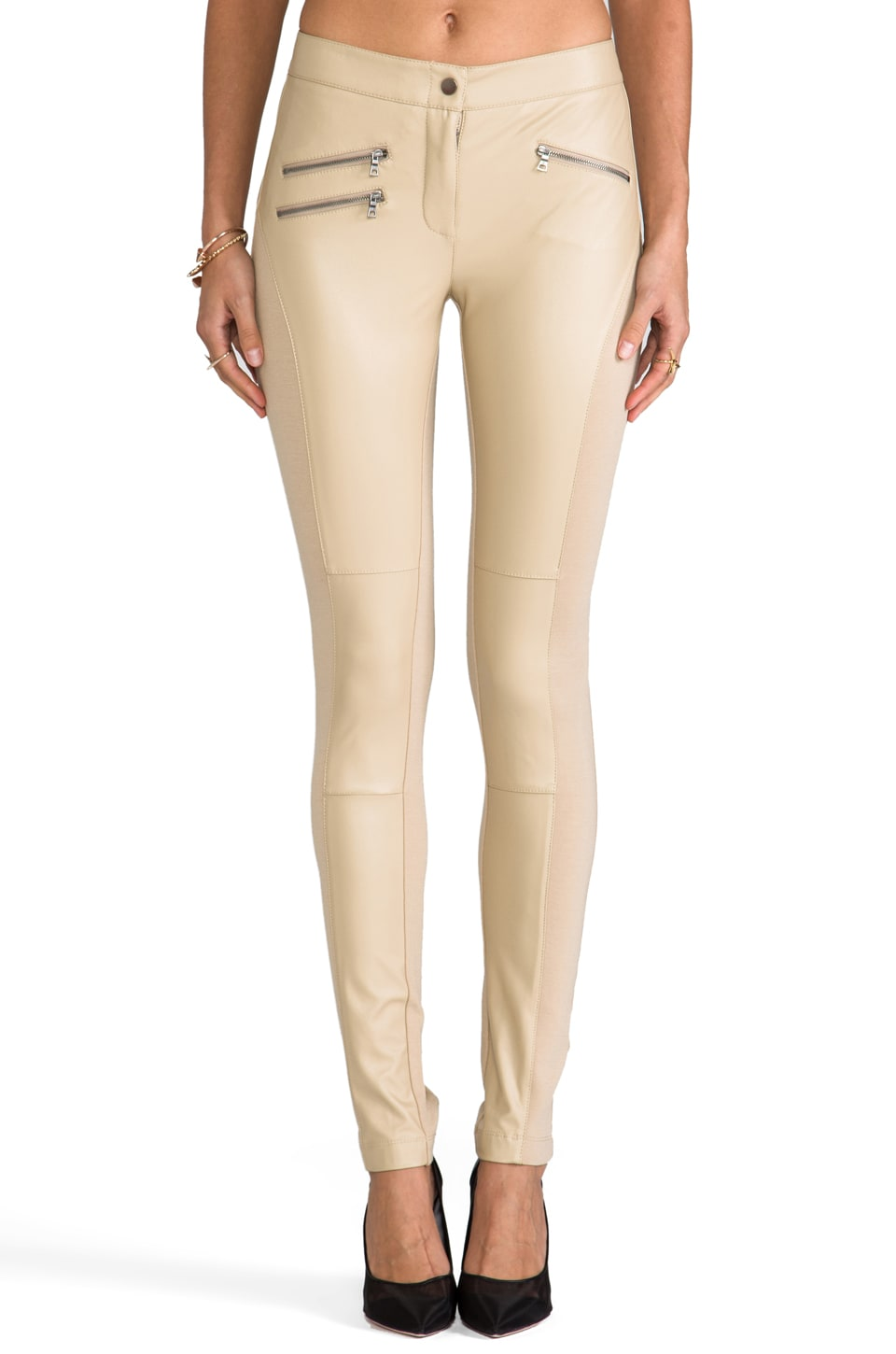 BCBGMAXAZRIA Stephen Pants in Khaki