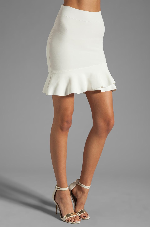 BCBGMAXAZRIA Ruffle Skirt in Gardenia