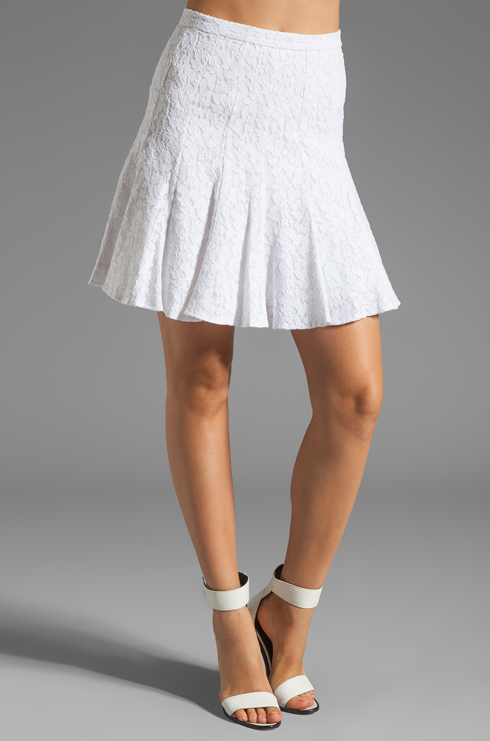 BCBGMAXAZRIA Lace Skirt in White