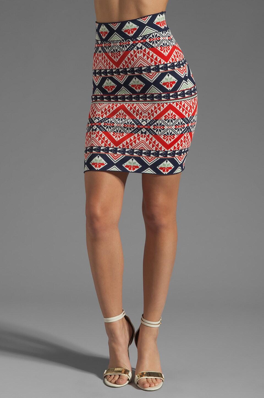 BCBGMAXAZRIA Printed Skirt Combo in Saffron