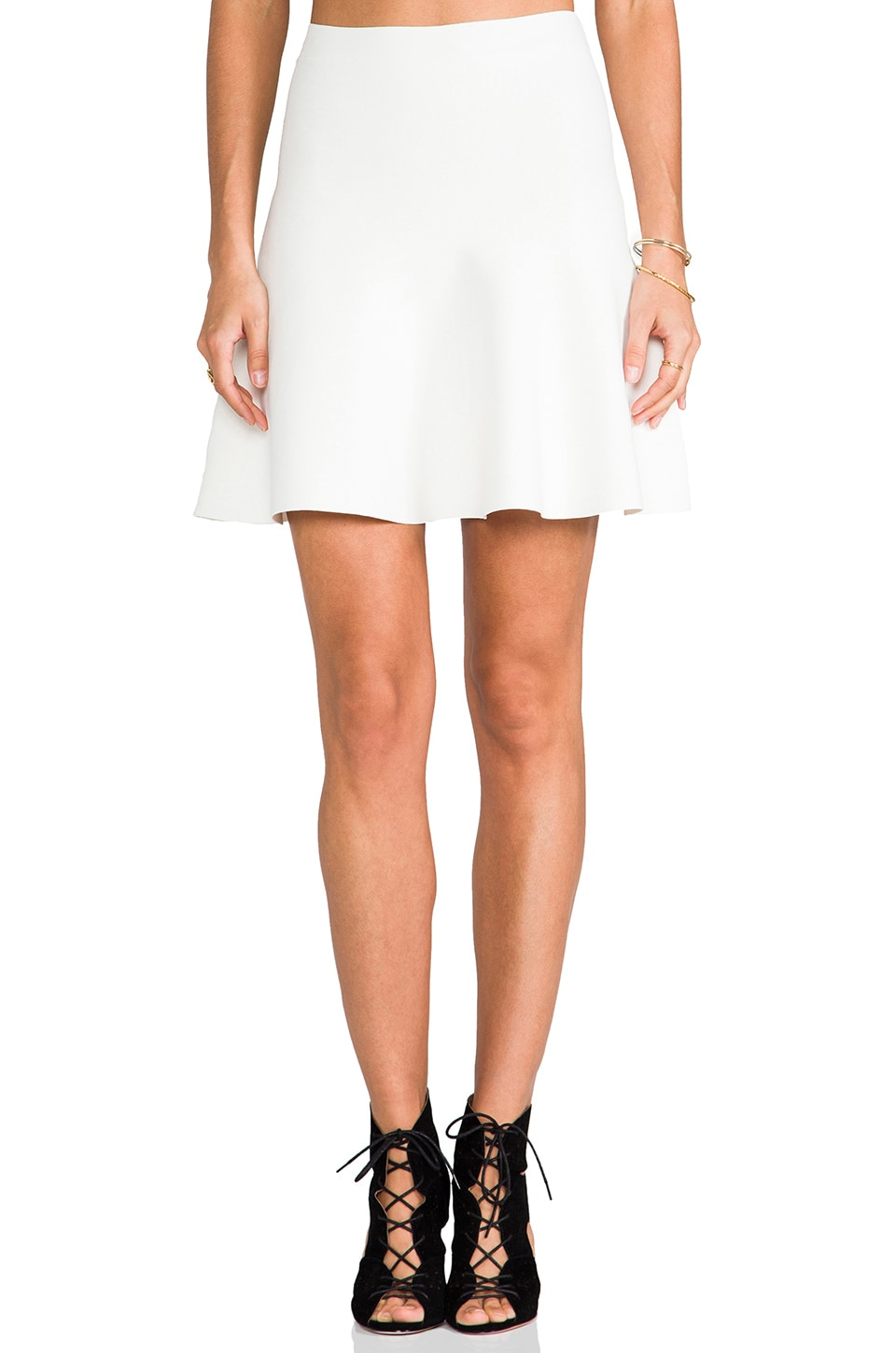 BCBGMAXAZRIA Fit and Flare Skirt in Gardenia